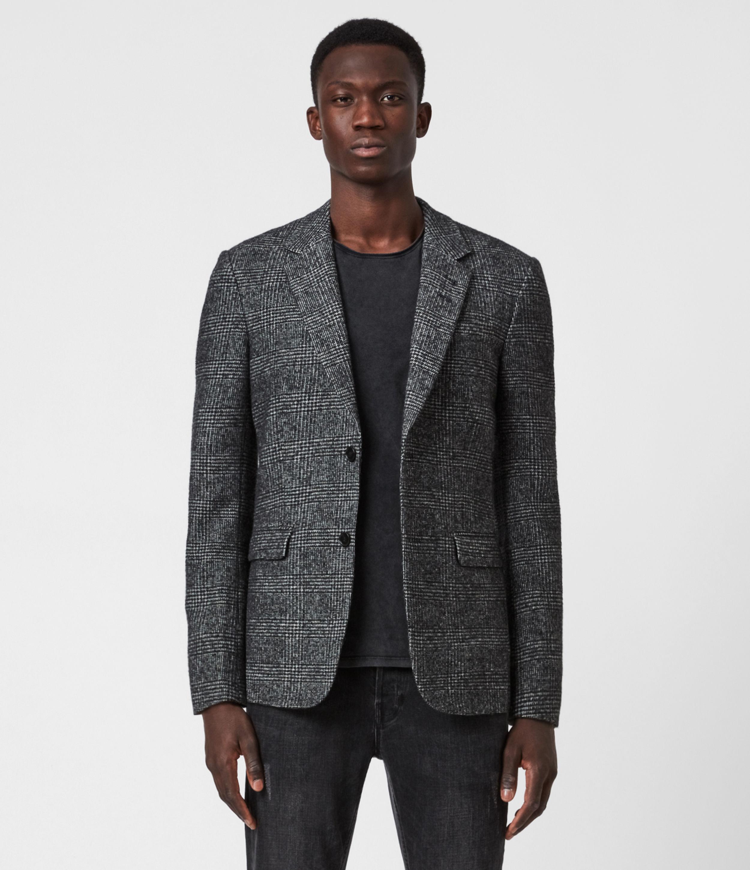 AllSaints Mens Hanson Blazer, Black/Grey, Size: 34