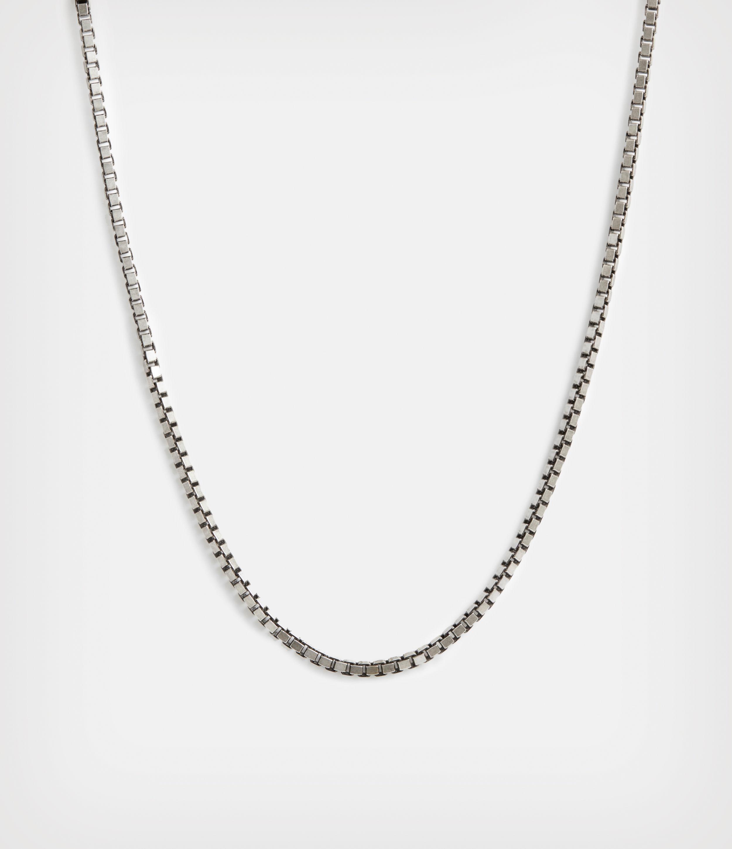 AllSaints Men's Sterling Silver Roan Chain Necklace