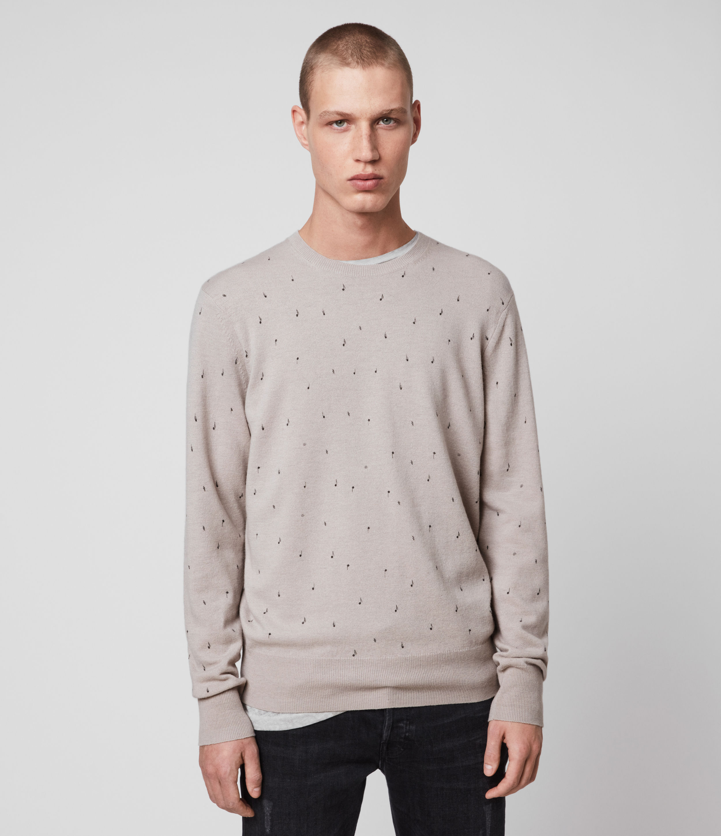 AllSaints Notes Merino Wool Crew Jumper
