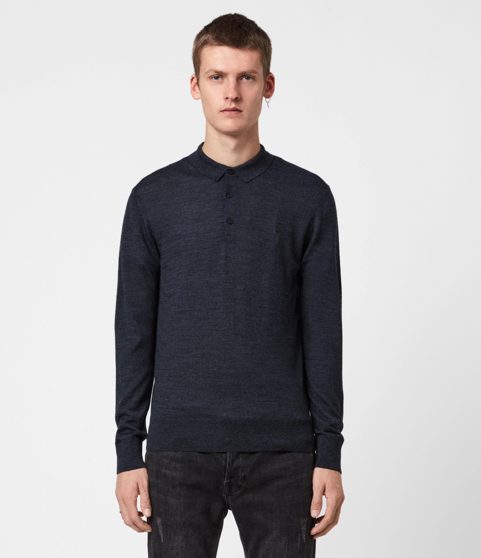 AllSaints Mode Merino Ls Polo