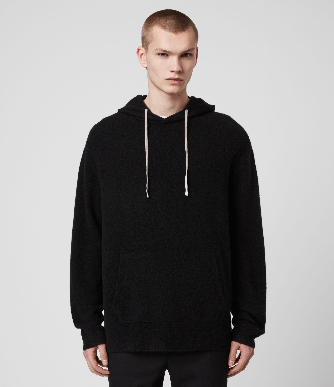 AllSaints Mens Mita Hoodie, Black, Size: L