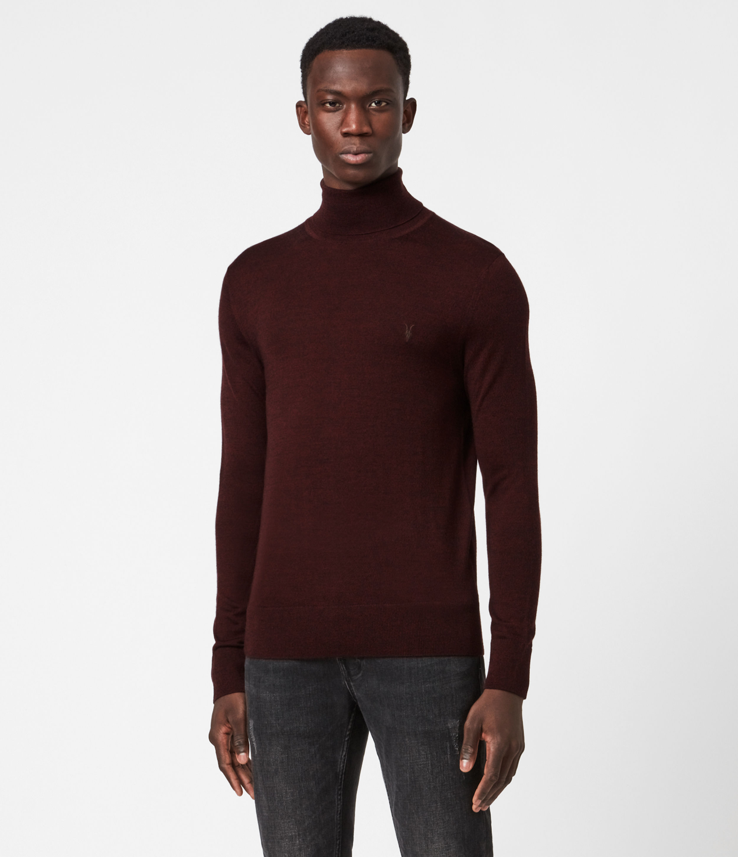 AllSaints Mode Merino Roll Neck Jumper