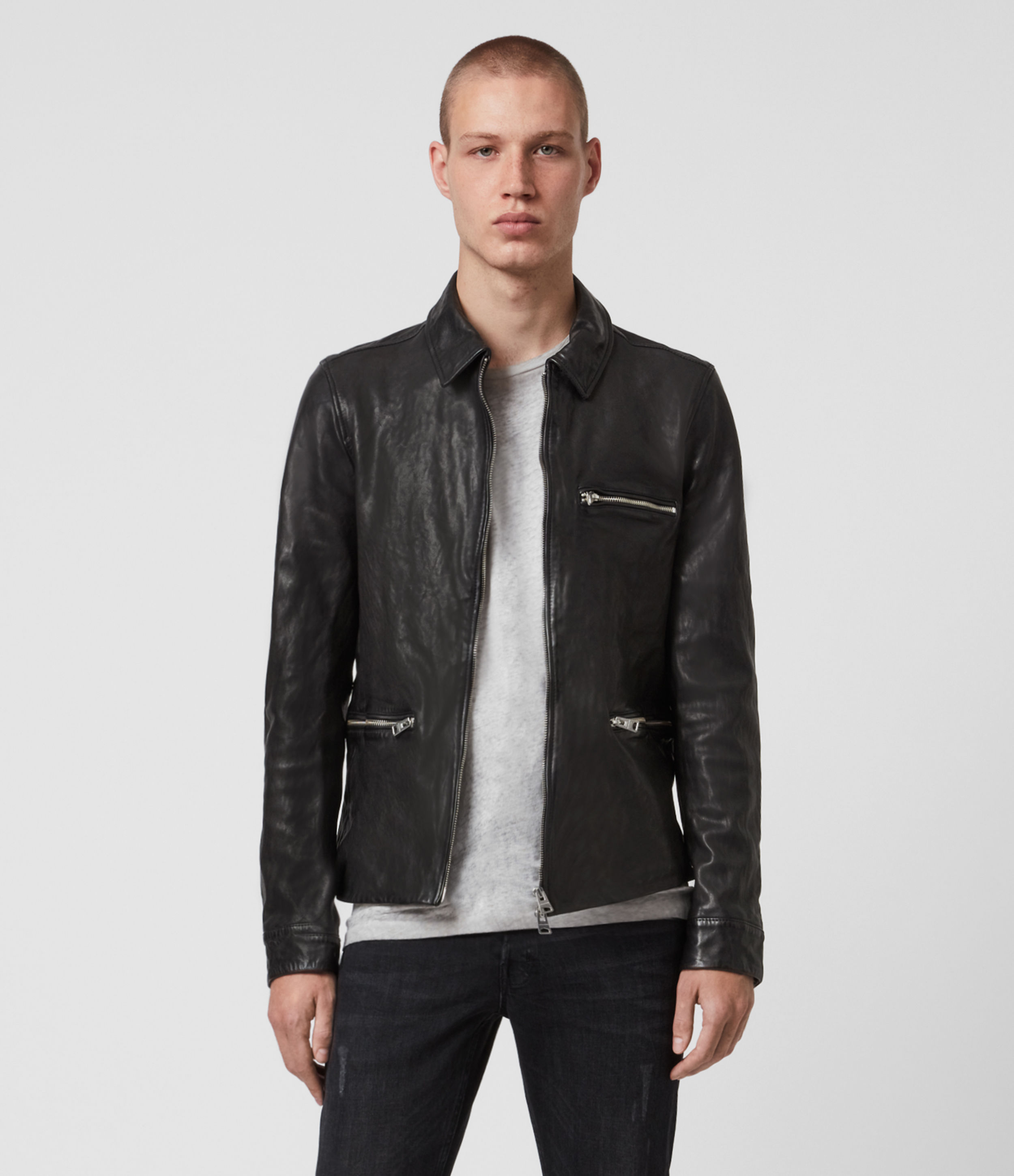 AllSaints Calix Leather Jacket