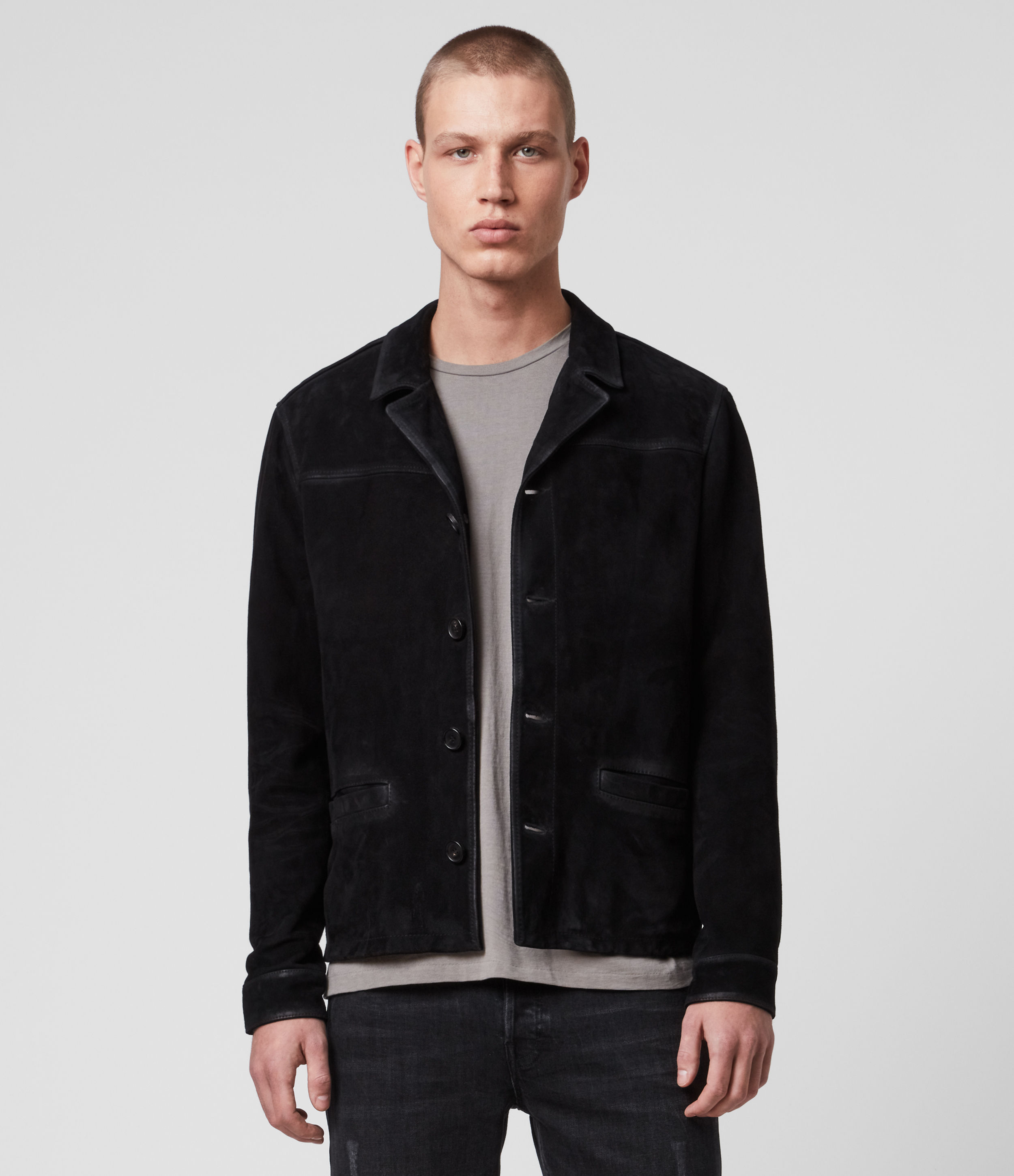 AllSaints Clifton Suede Jacket
