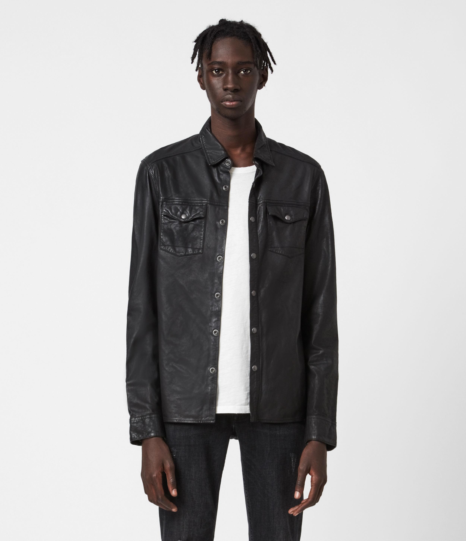 AllSaints Irwin Leather Shirt