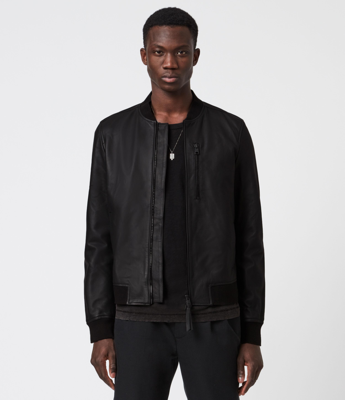 AllSaints Ivor Leather Bomber Jacket