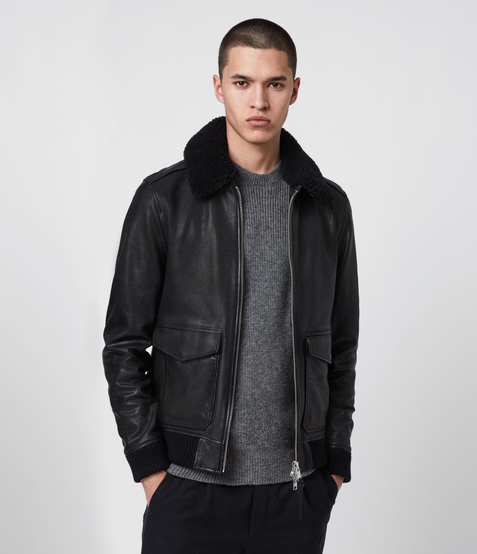 AllSaints Phoenix Leather Aviator Jacket