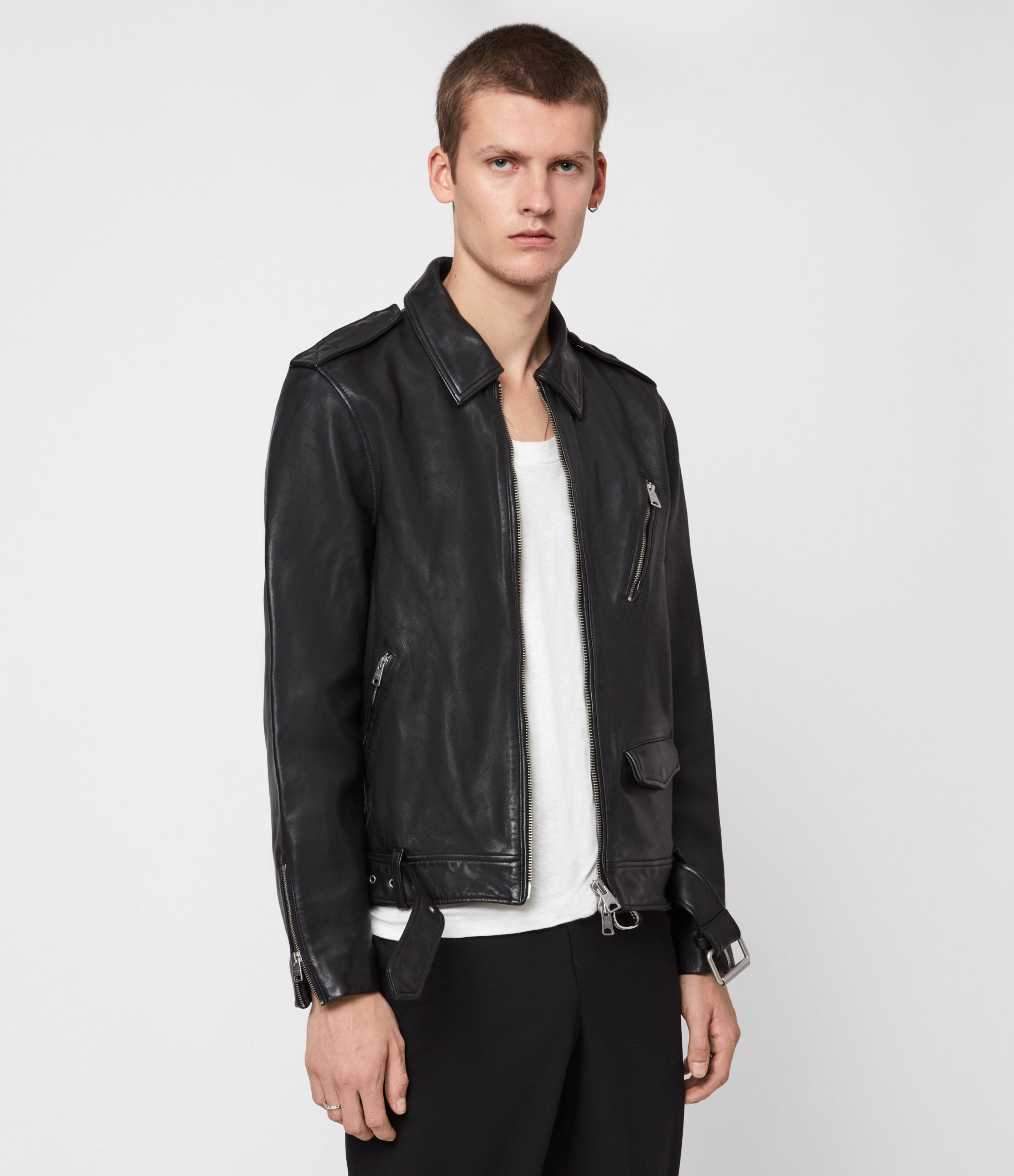AllSaints Monza Leather Jacket