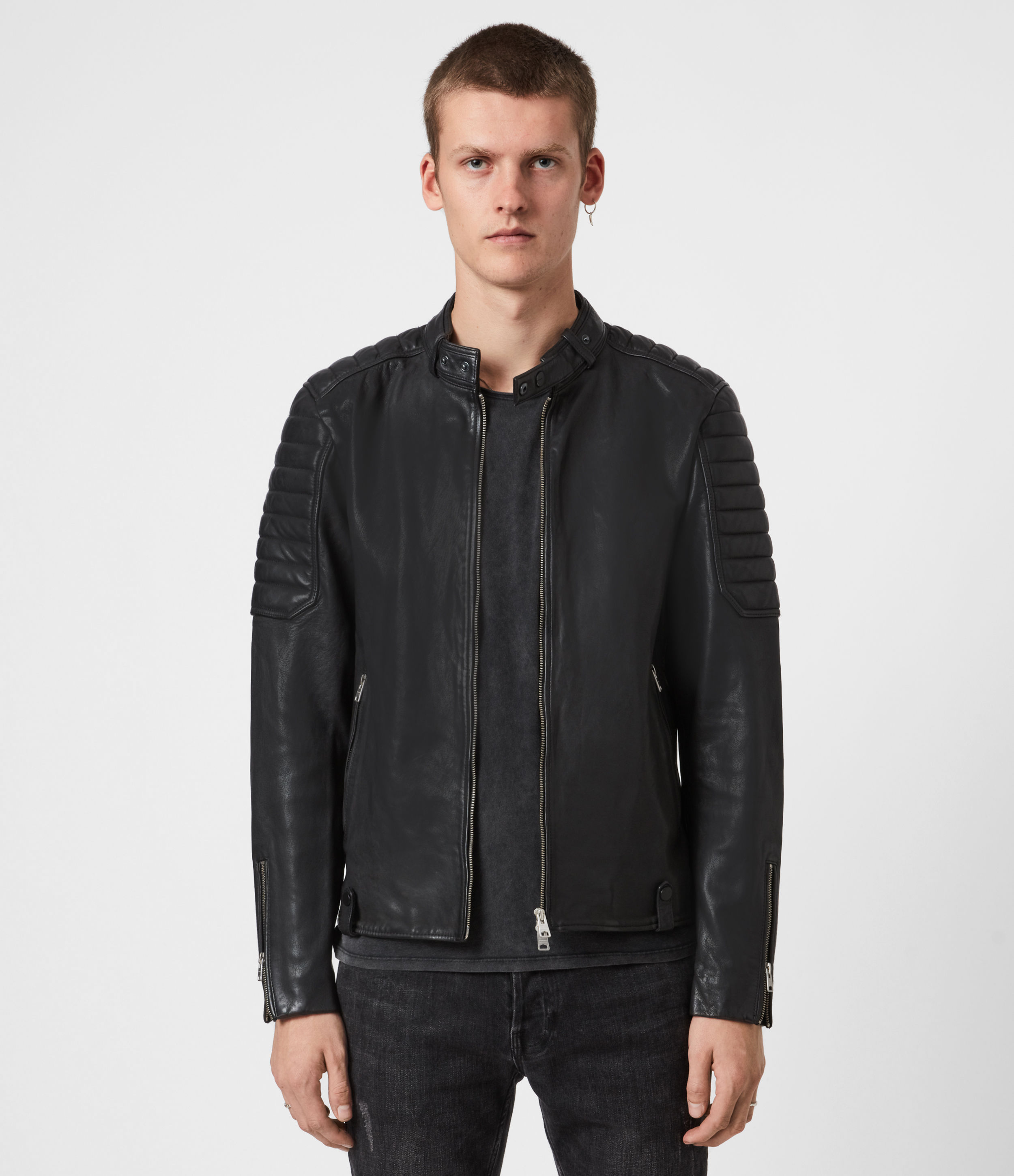 AllSaints Marcon Leather Jacket
