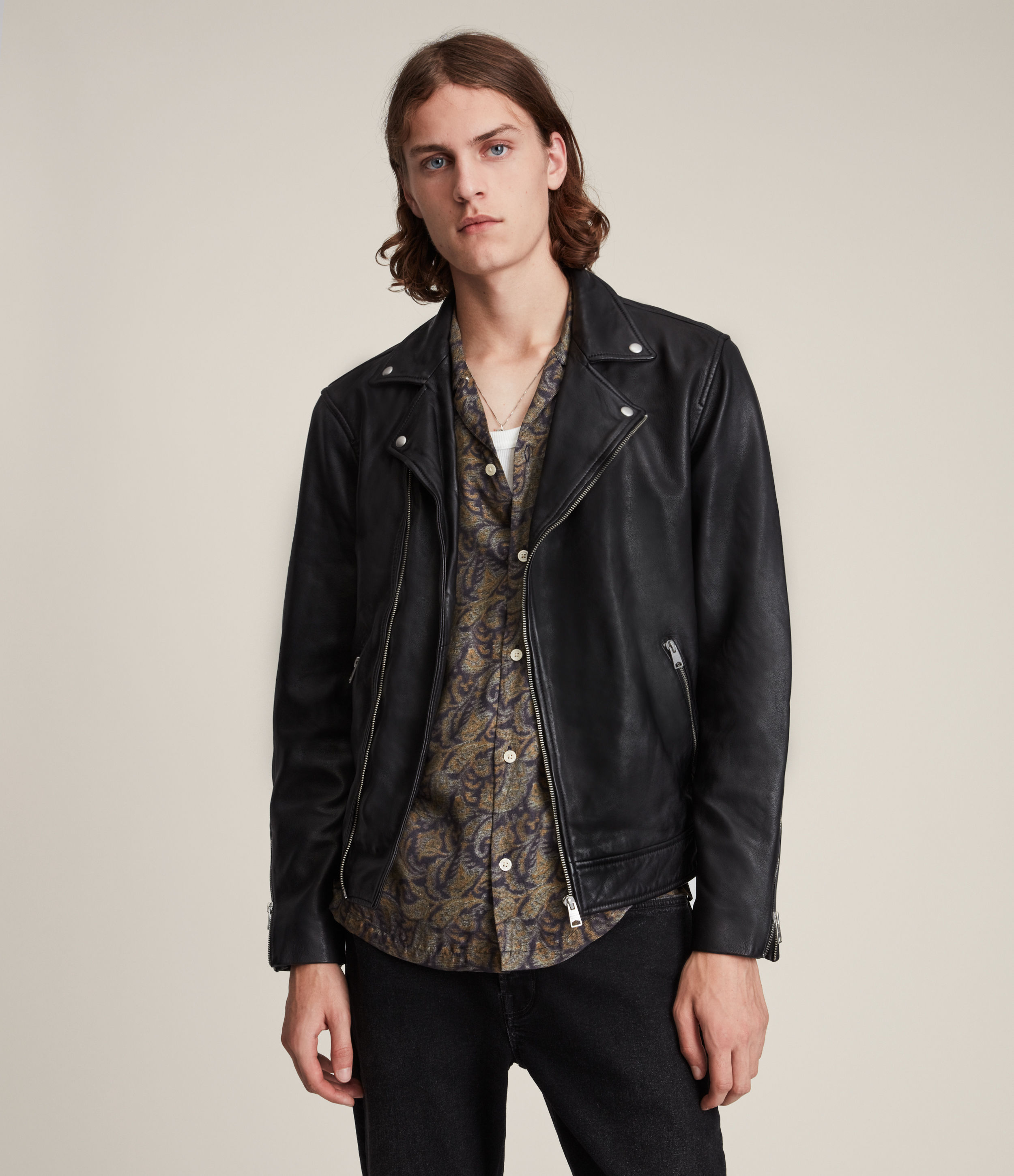 AllSaints Tyson Leather Biker Jacket