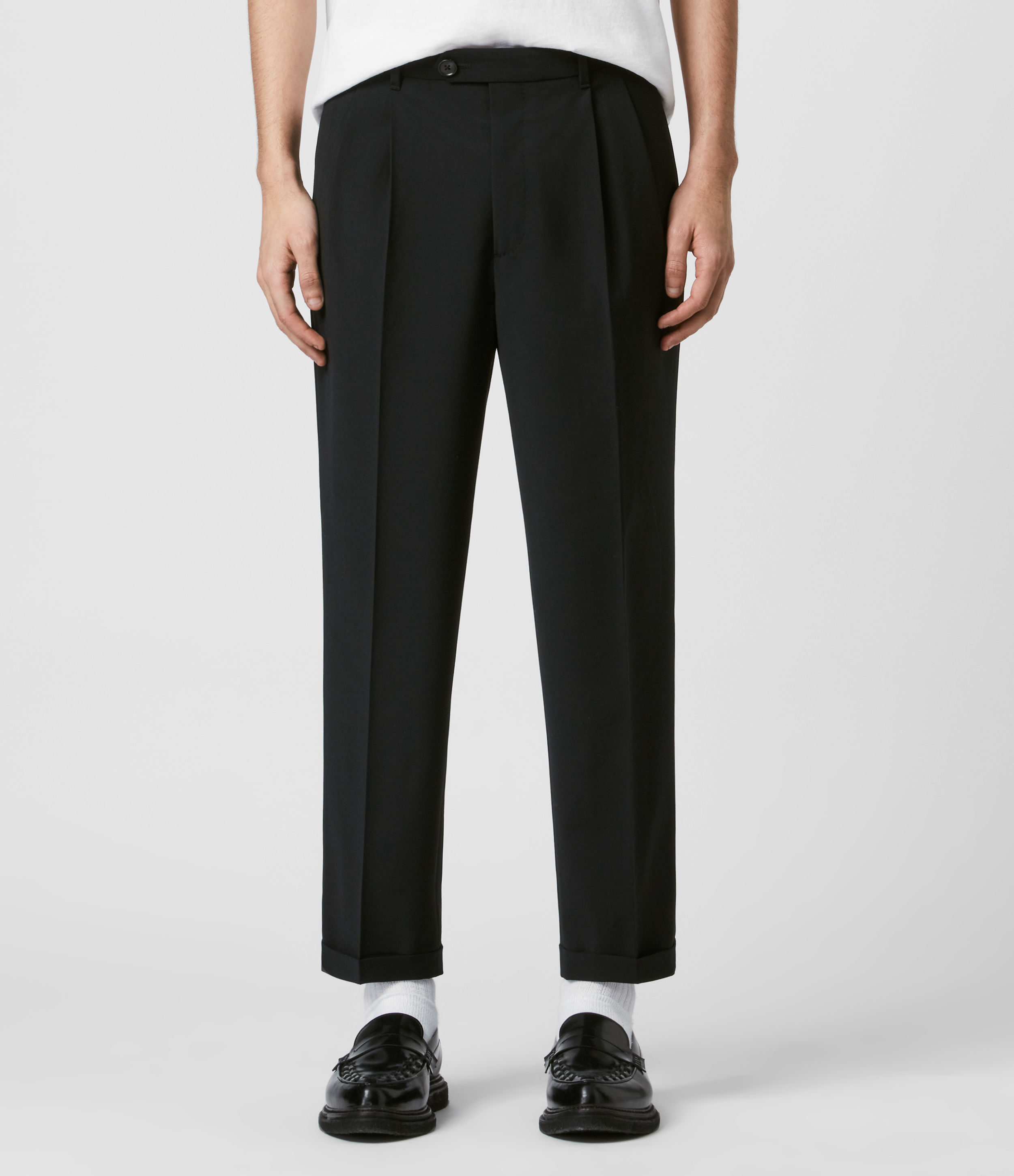 AllSaints Portman Cropped Straight Trousers