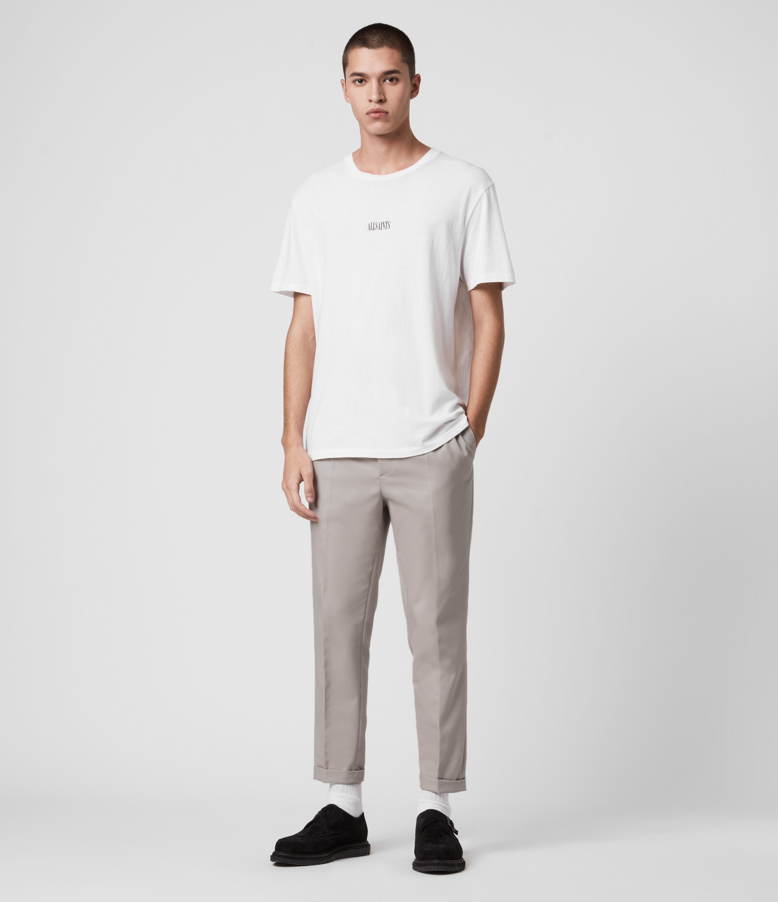 AllSaints Tallis Cropped Slim Trousers