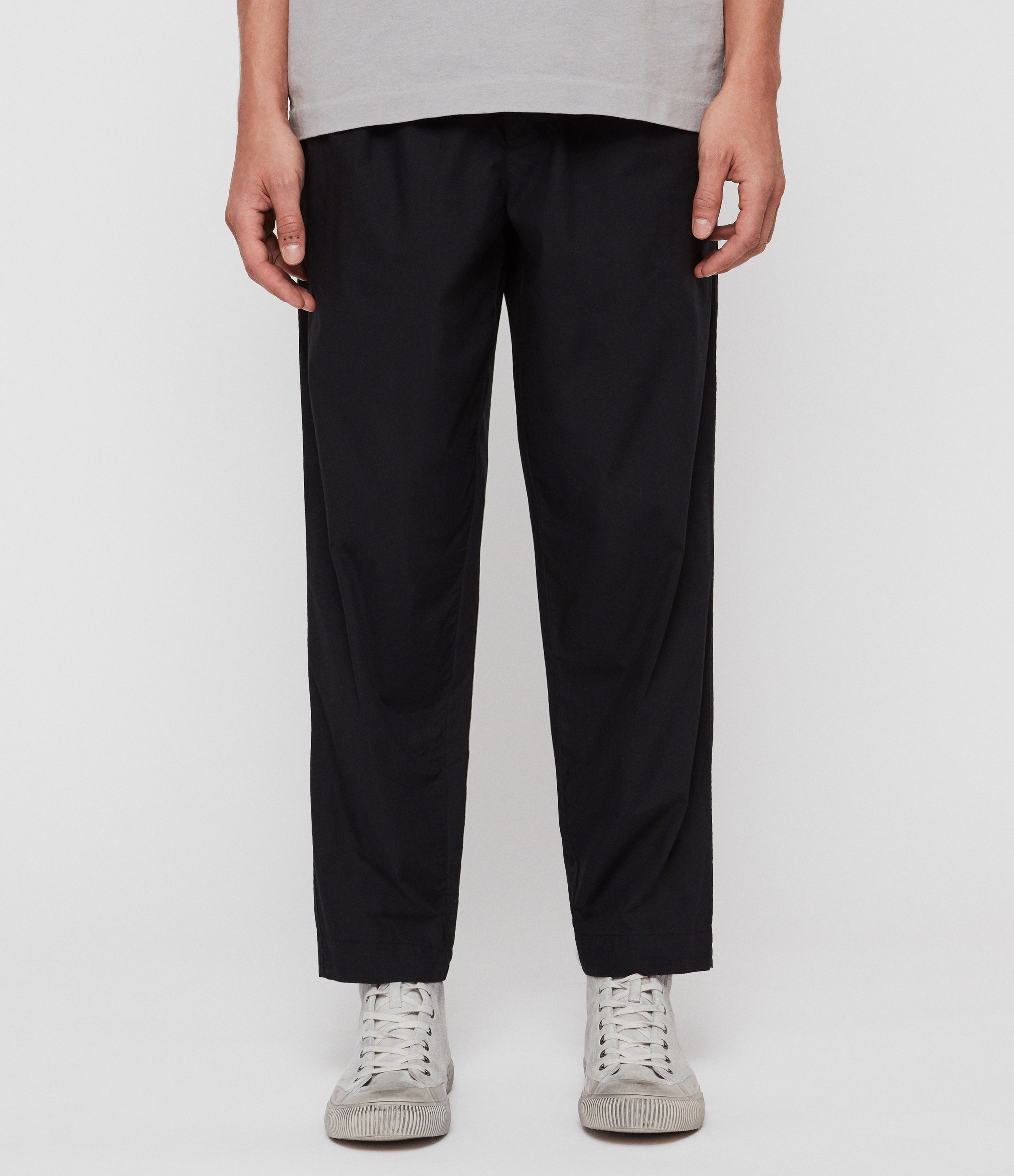 AllSaints Keet Cropped Wide-Leg Trousers