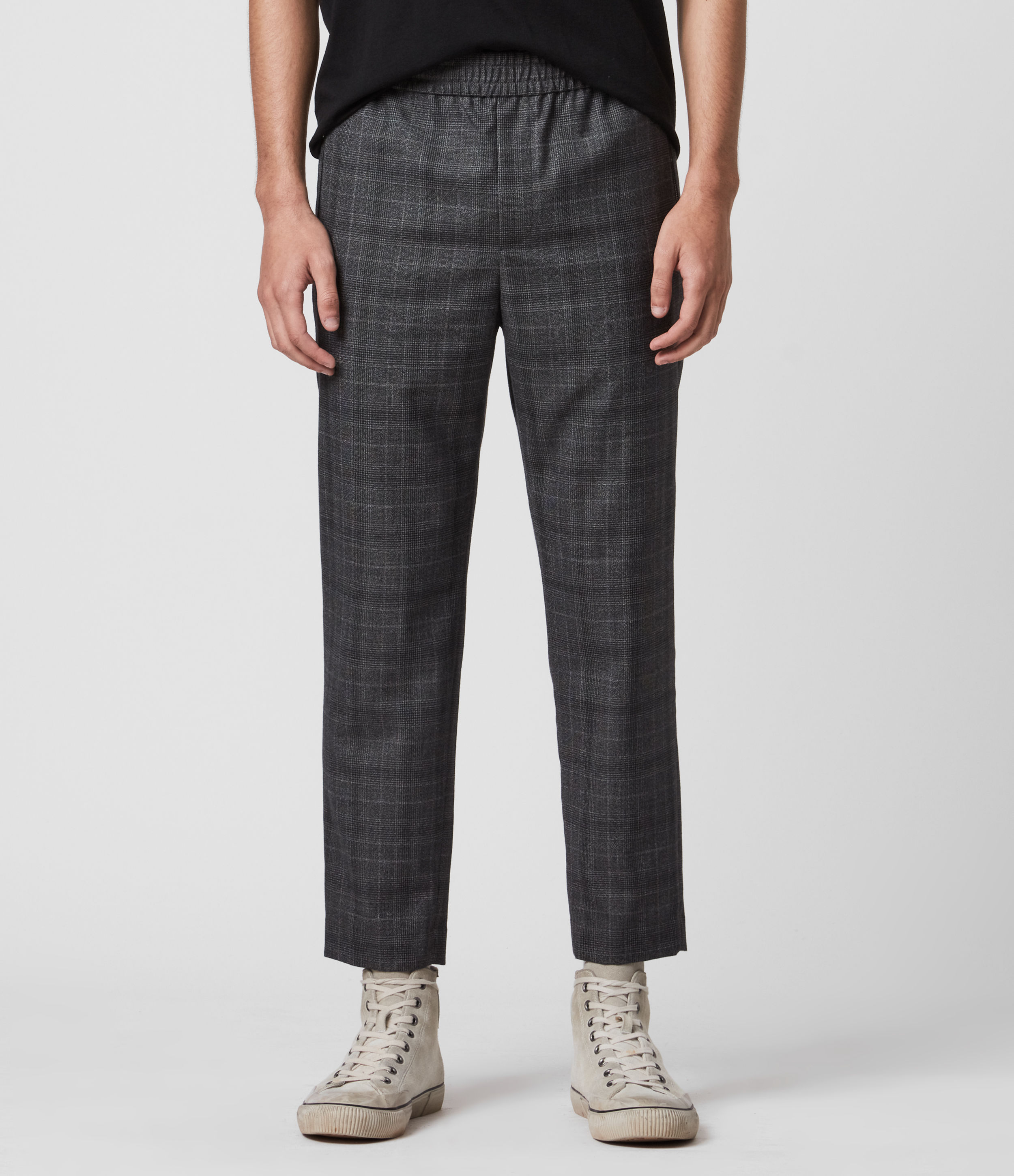 AllSaints Agar Cropped Slim Trousers