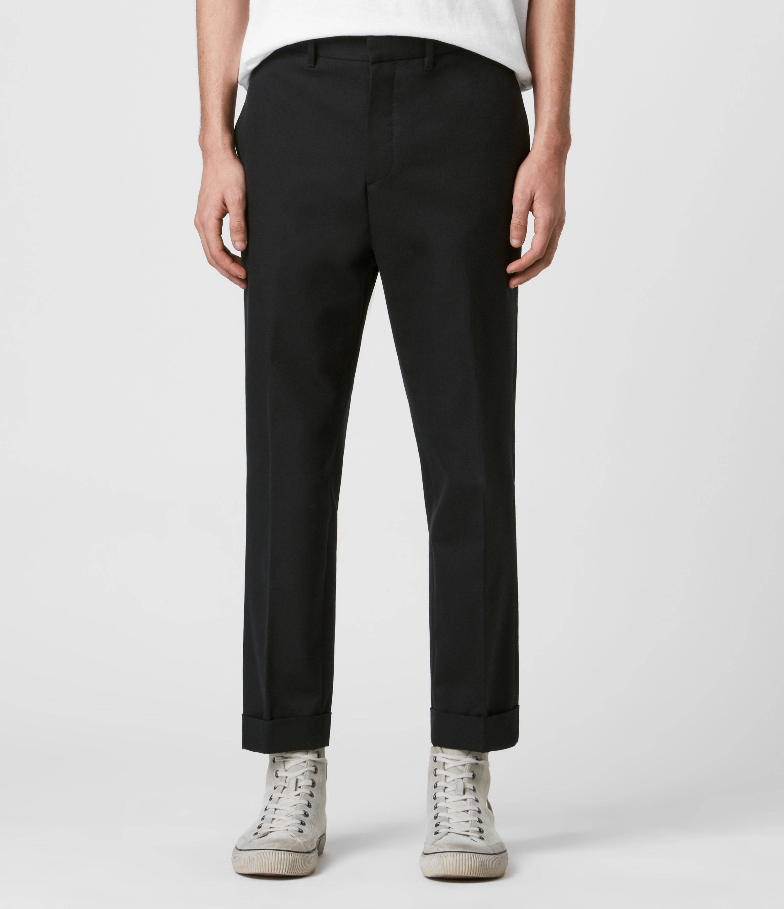 AllSaints Gibbs Cropped Slim Trousers
