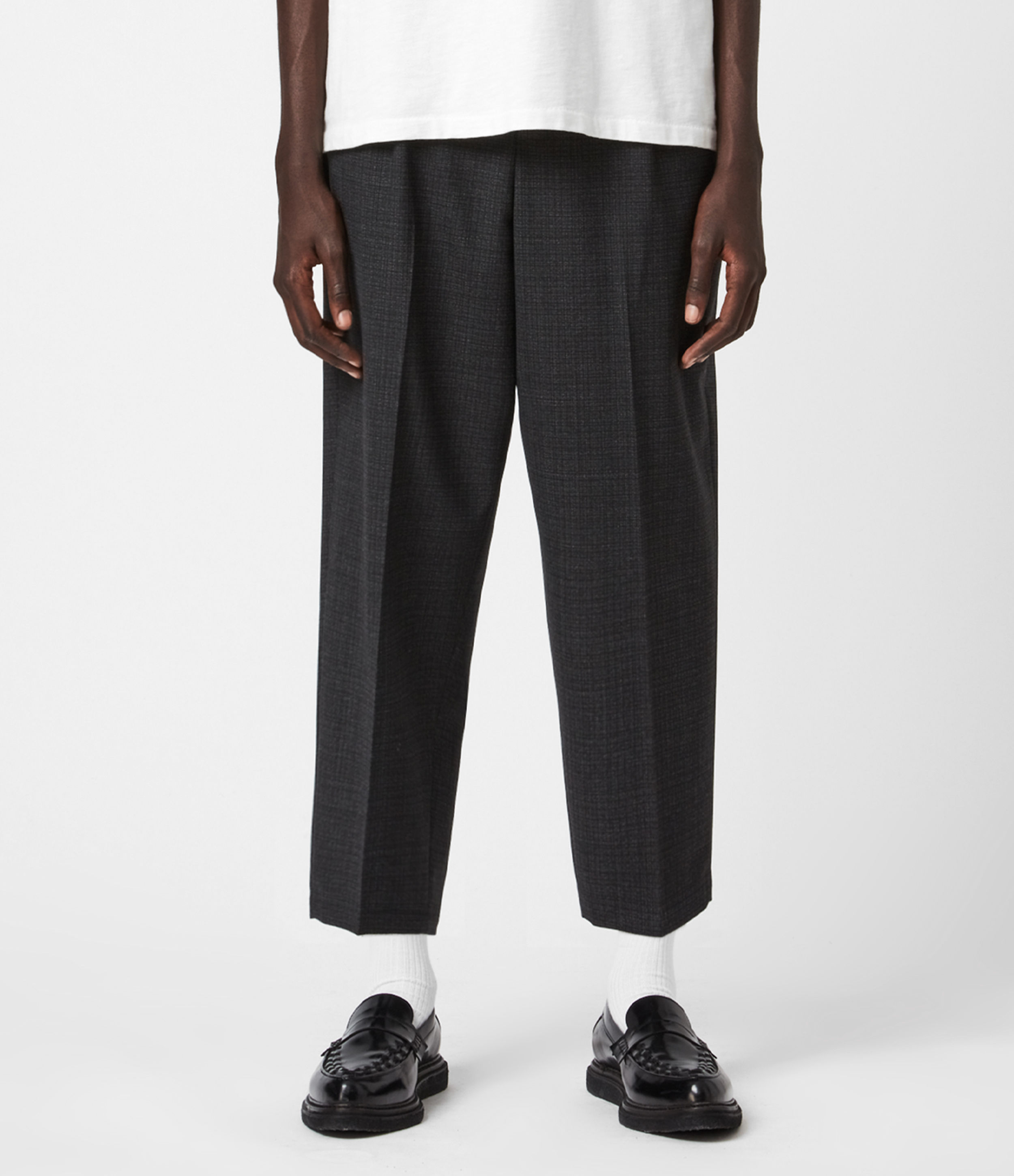 AllSaints Donnie Kobane Cropped Wide Trousers