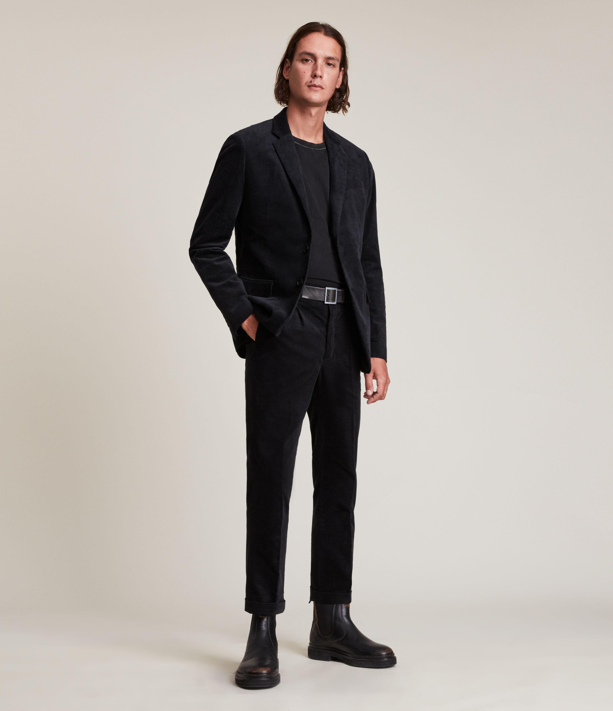 AllSaints Men's Kiels Trousers, Black, Size: 32