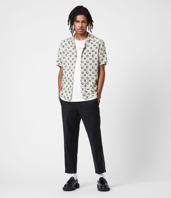 AllSaints Men's Branfield Cropped Slim Trousers, Black, Size: 32