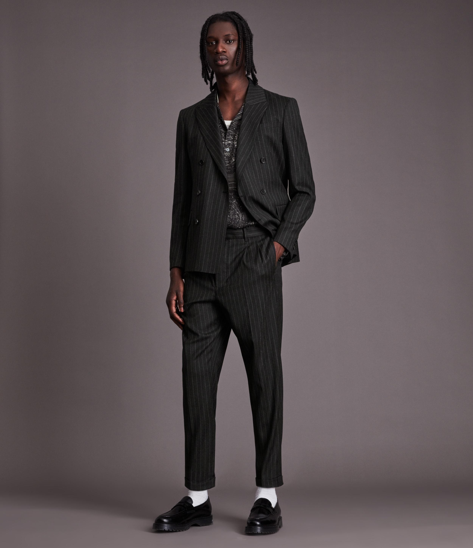 AllSaints Men's Dabin Trousers, Dark Charcoal, Size: 28