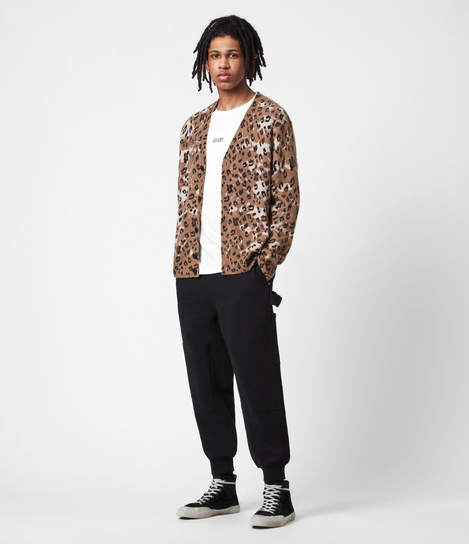 AllSaints Mens Laing Track Sweatpants, Black, Size: M