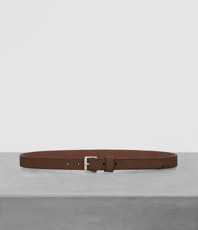 AllSaints Bevan Leather Slim Belt