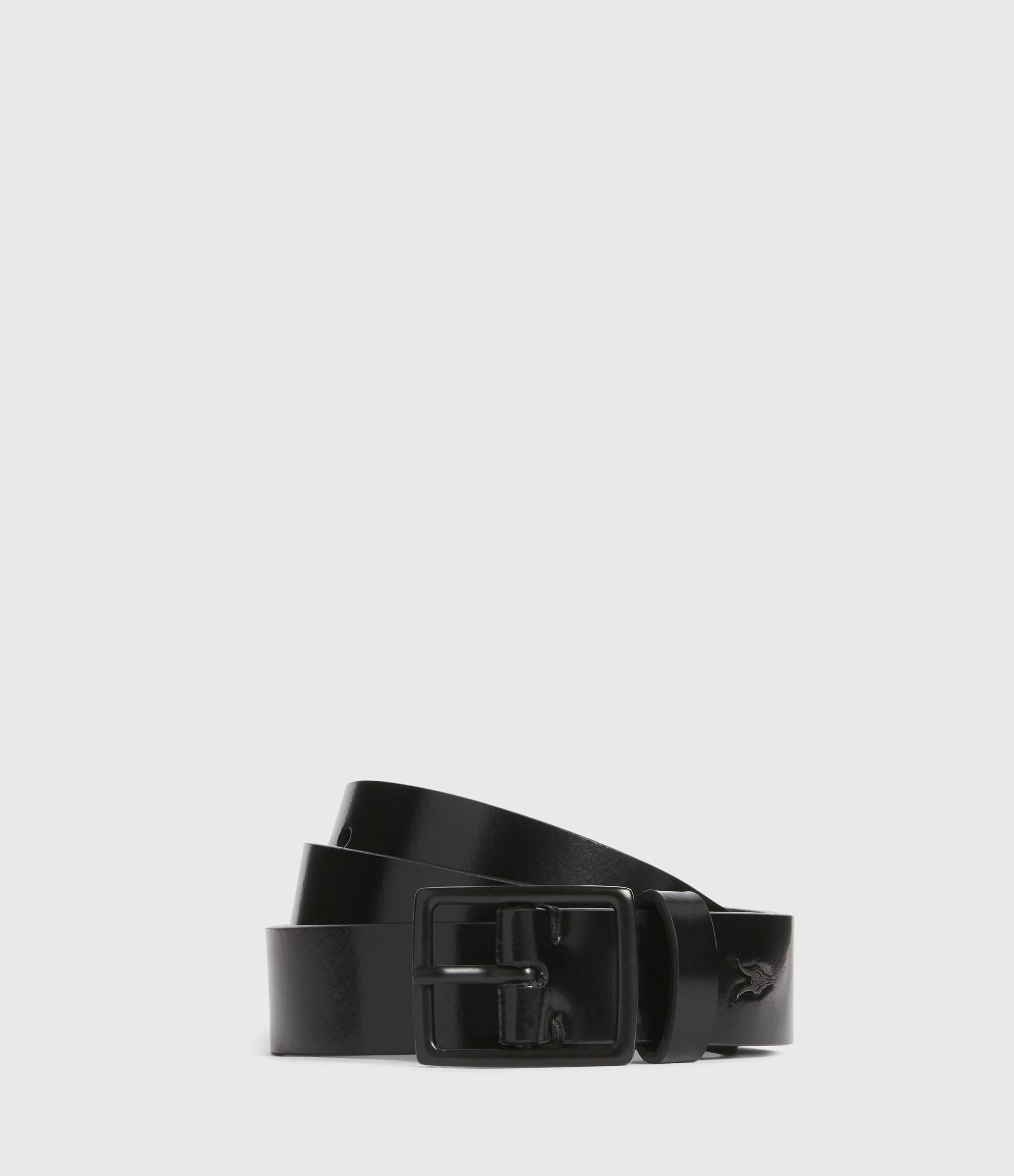 AllSaints Leo Skinny Leather Belt