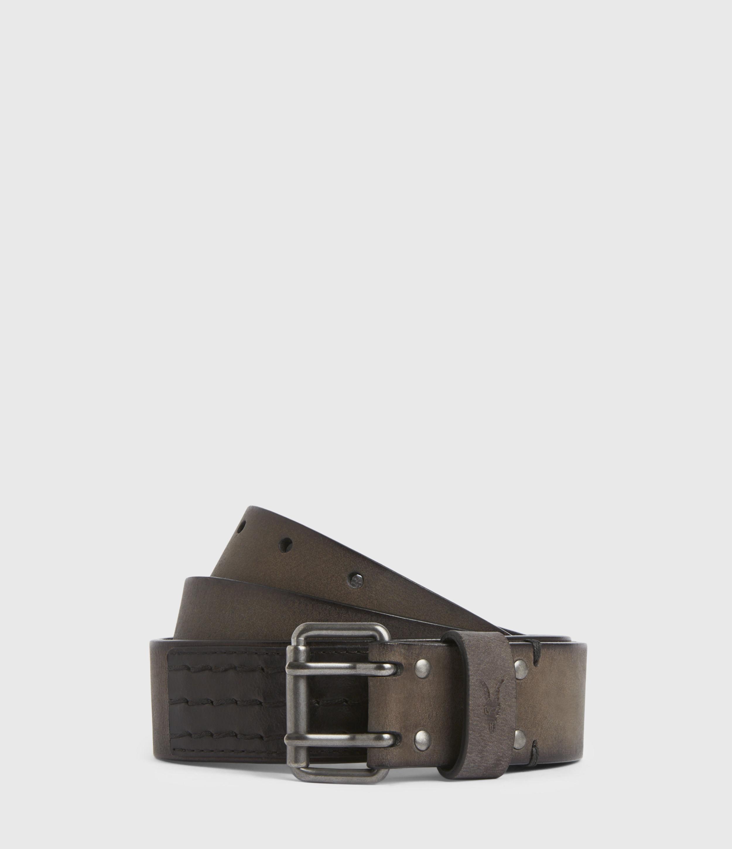 AllSaints Men's Ryder Leather Belt, Black, Size: 36