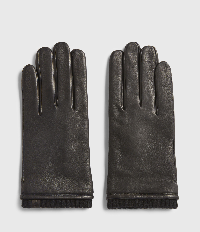 AllSaints Vester Leather Cuff Gloves