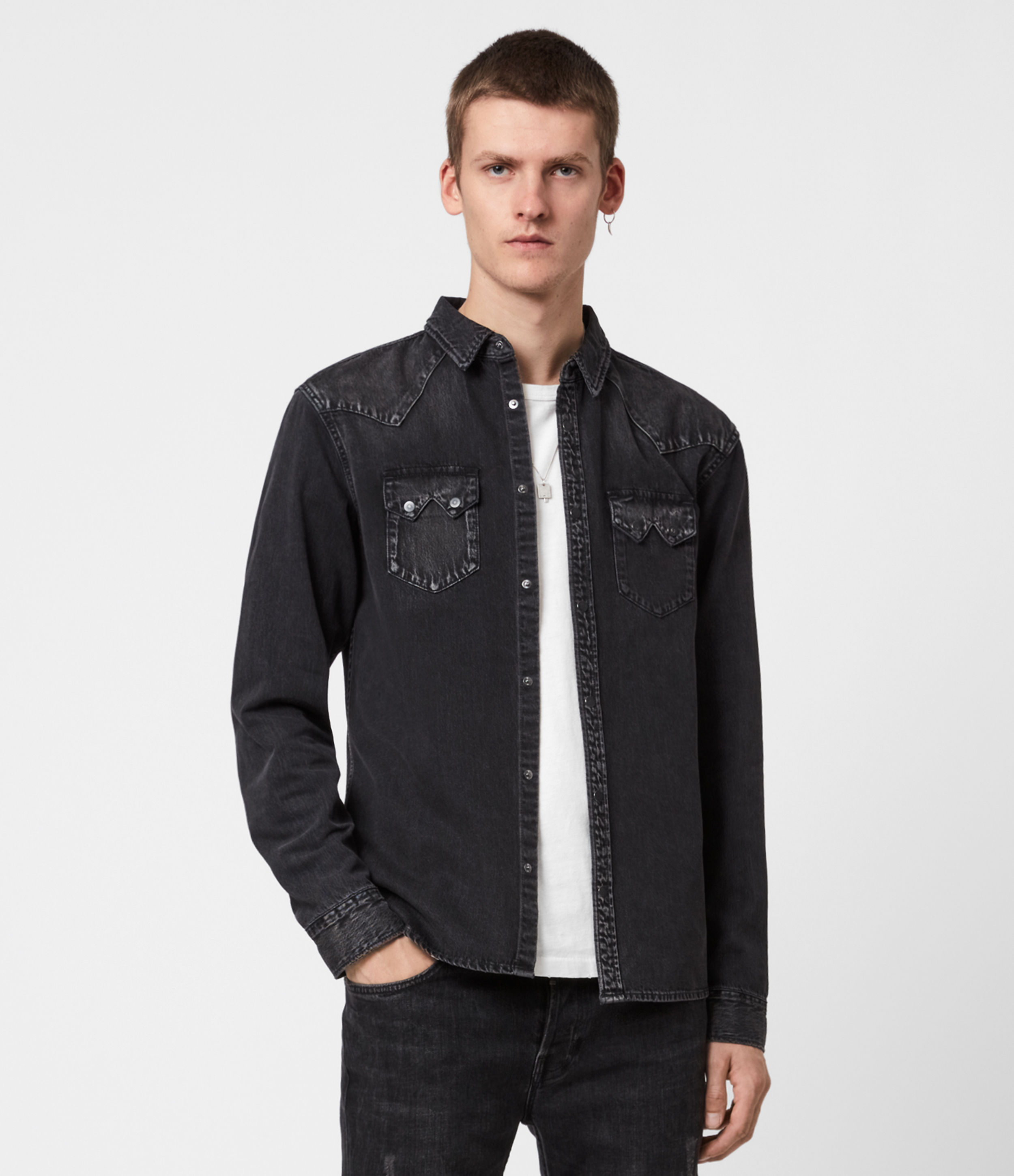 AllSaints Bassett Denim Shirt