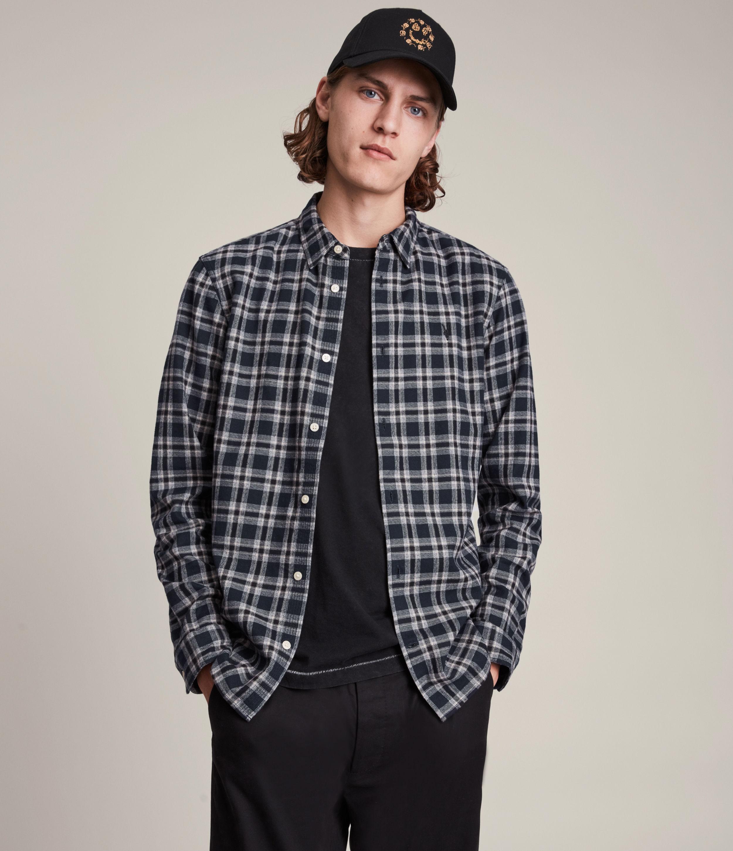 AllSaints Men's Oneida Shirt, Ink, Size: M