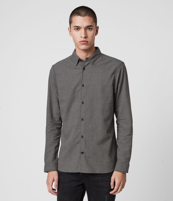 AllSaints Men's Vander Shirt, Black, Size: M
