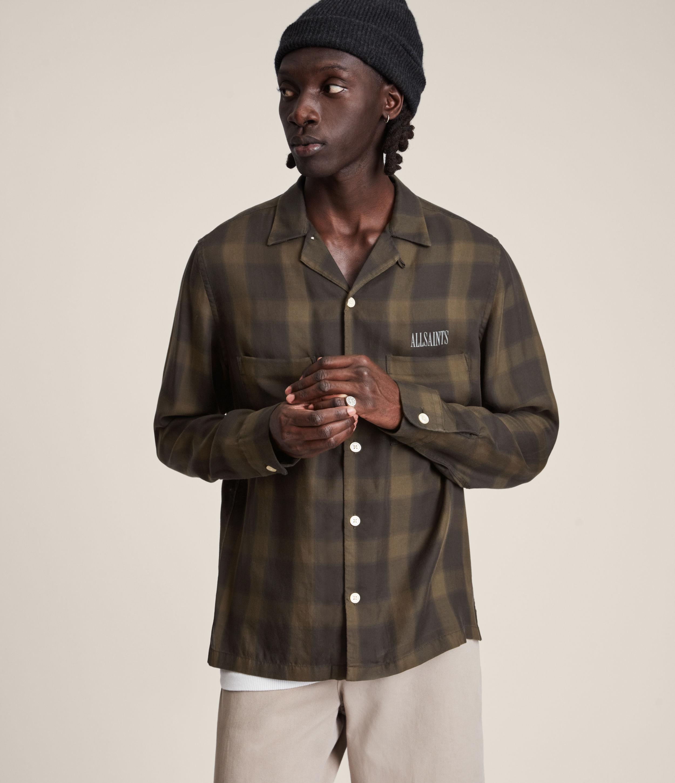 AllSaints Men's Erieville Shirt, Brown, Size: XS