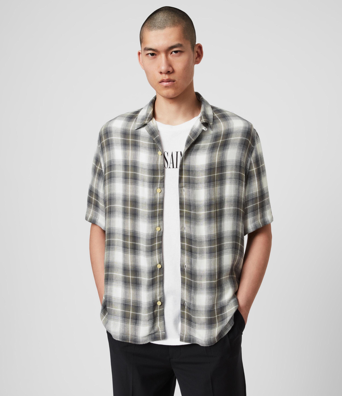 AllSaints Encino Linen Blend Shirt
