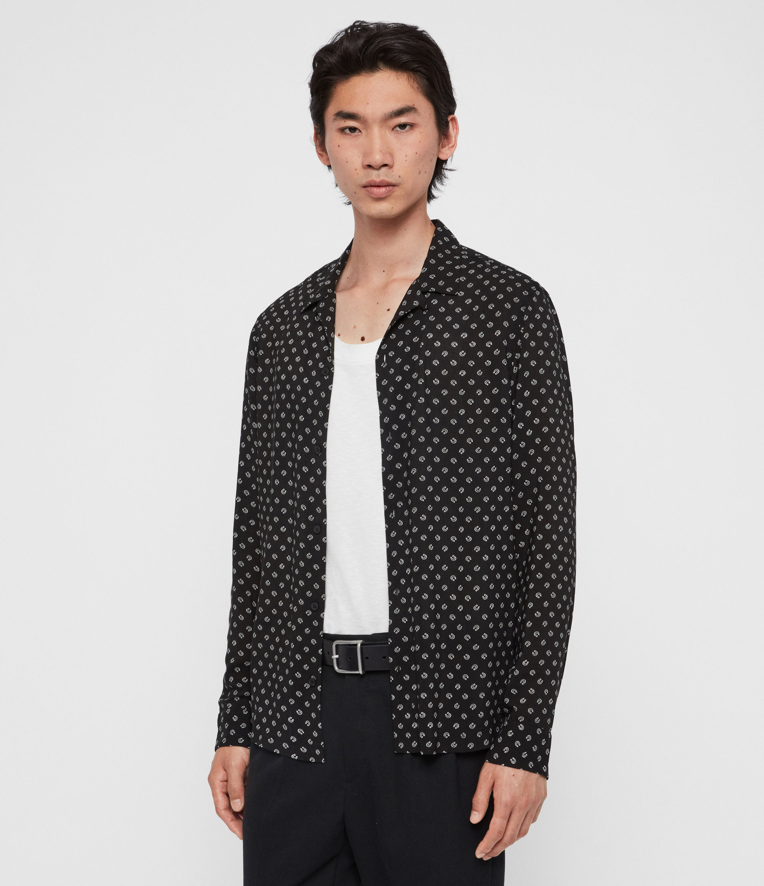 AllSaints Lucked Out Long Sleeve Shirt