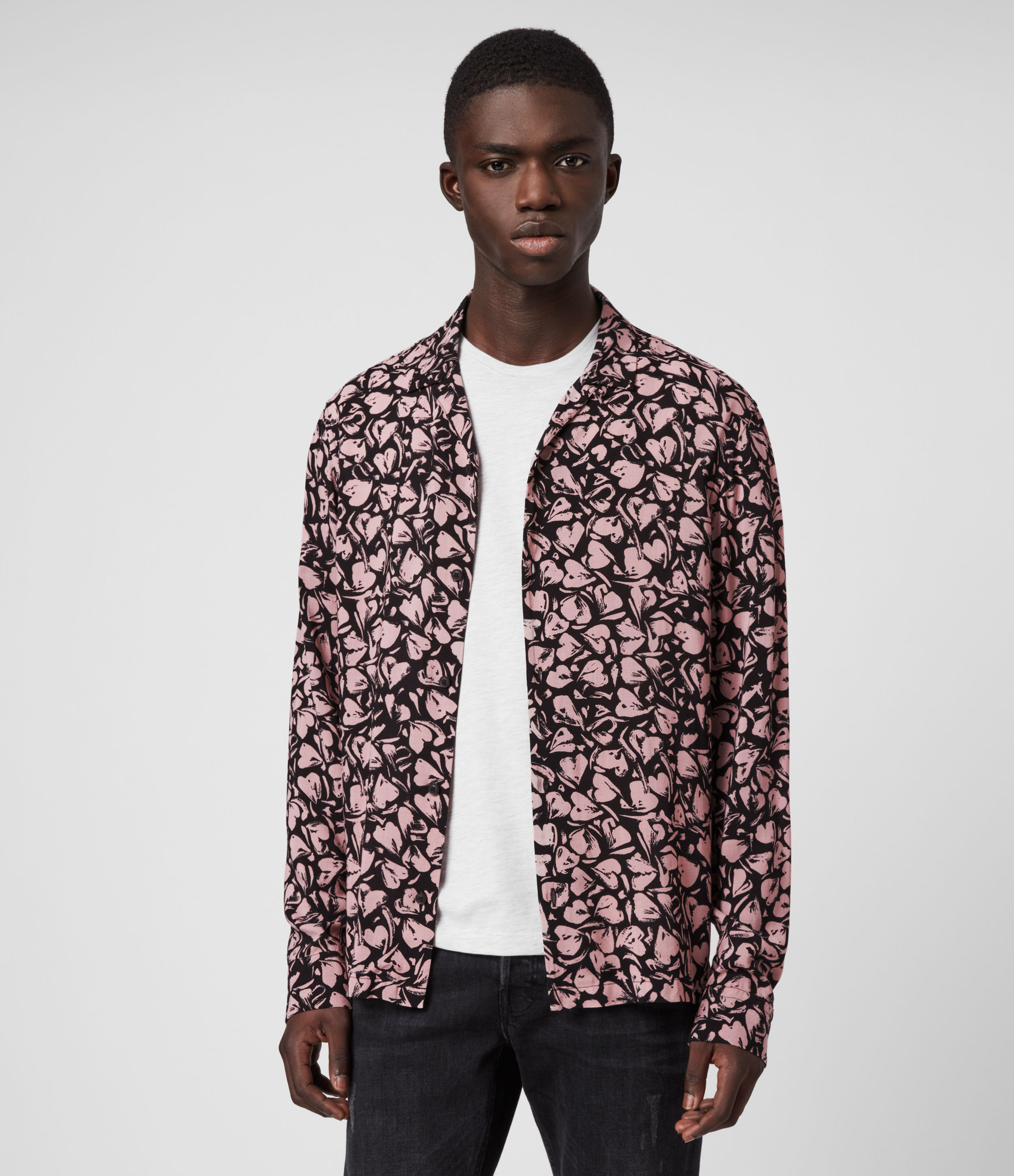 AllSaints Heartbreak Long Sleeve Shirt