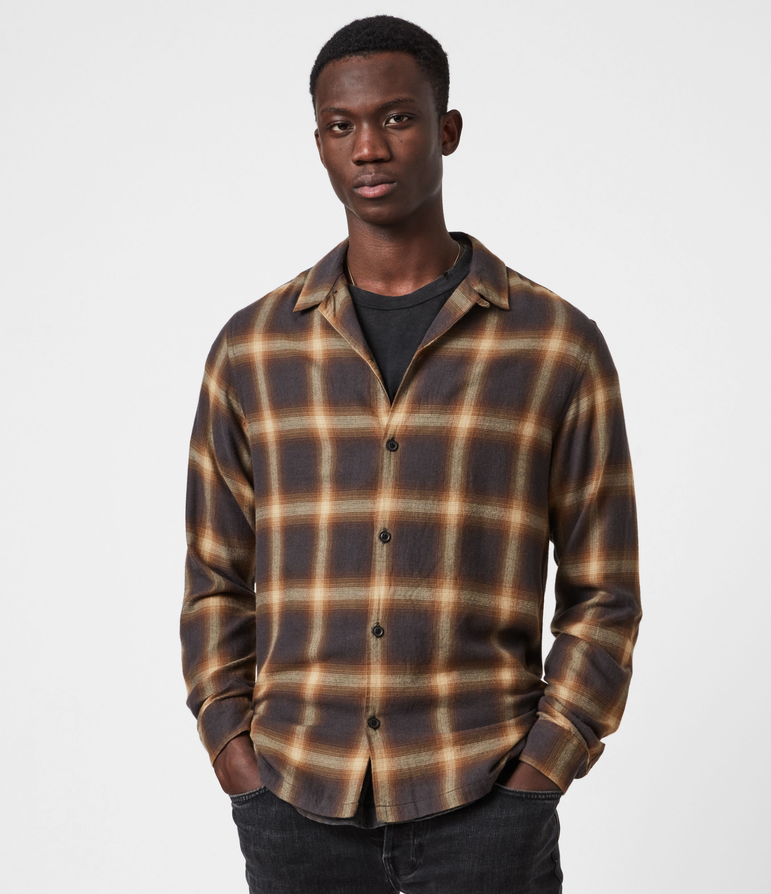 AllSaints Monetta Long Sleeve Shirt