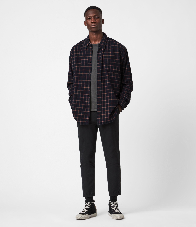AllSaints Mens Loris Shirt, Dark Ink, Size: M/L