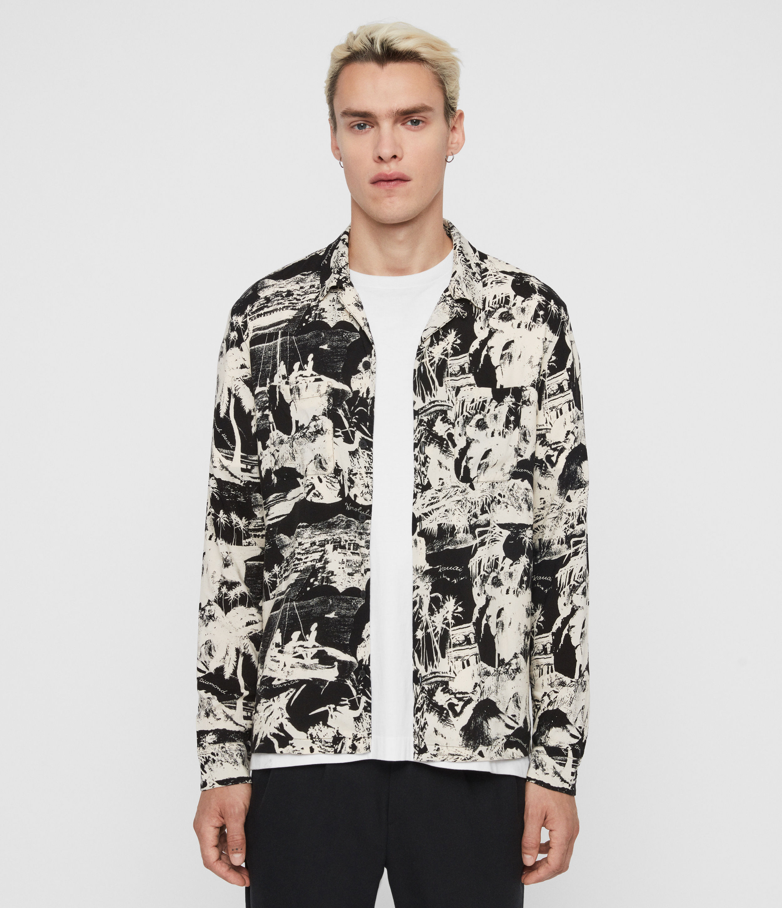 AllSaints Awa Long Sleeve Shirt