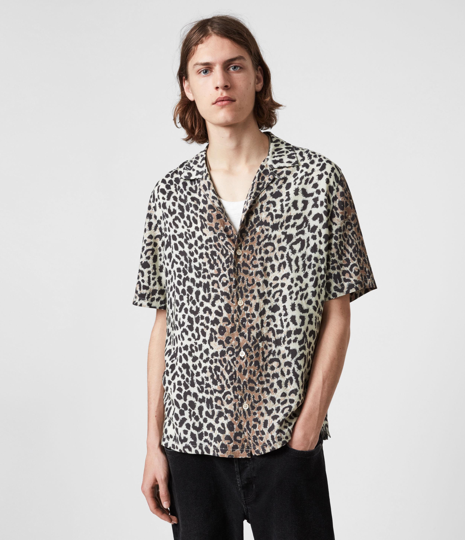 AllSaints Men's Reserve Shirt, Ecru, Size: XXL