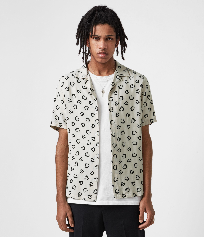 AllSaints Mens Romanza Shirt, Ecru, Size: XS