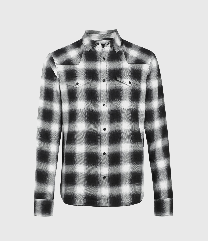 AllSaints Mens Collano Shirt, Jet Black, Size: XS