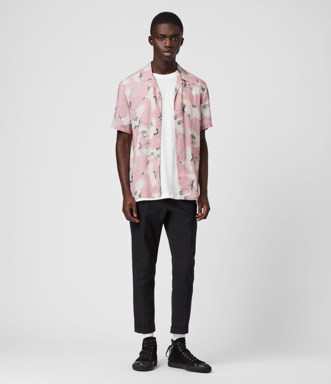 AllSaints Men's Lightweight Tsuru Shirt, Pink, Size: XS
