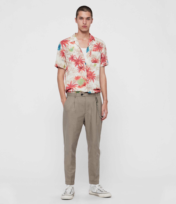 AllSaints Mens Kanaloa Shirt, White, Size: S
