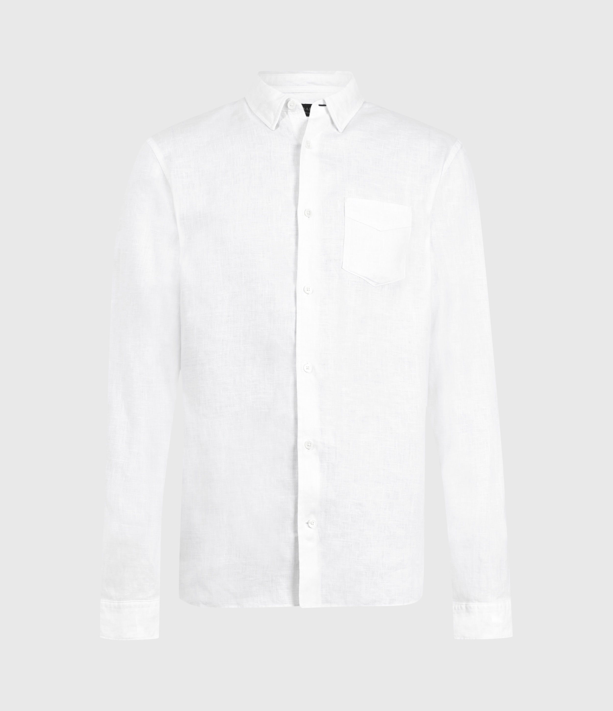 AllSaints Gilles Linen Shirt