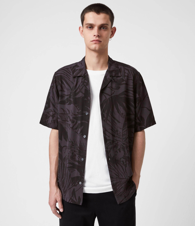 AllSaints Men's Lanai Shirt, Black, Size: S