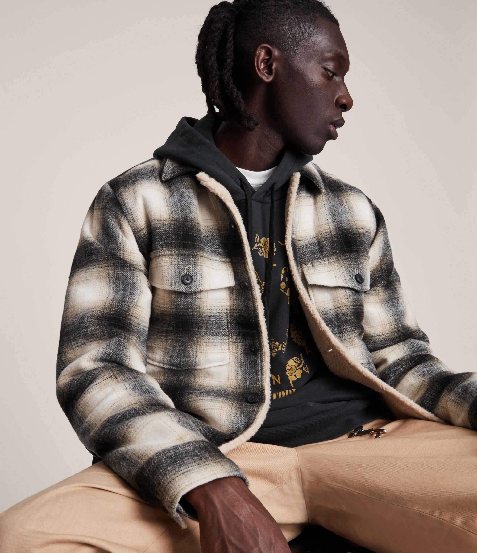 AllSaints Men's Lewes Jacket, Ecru, Size: S