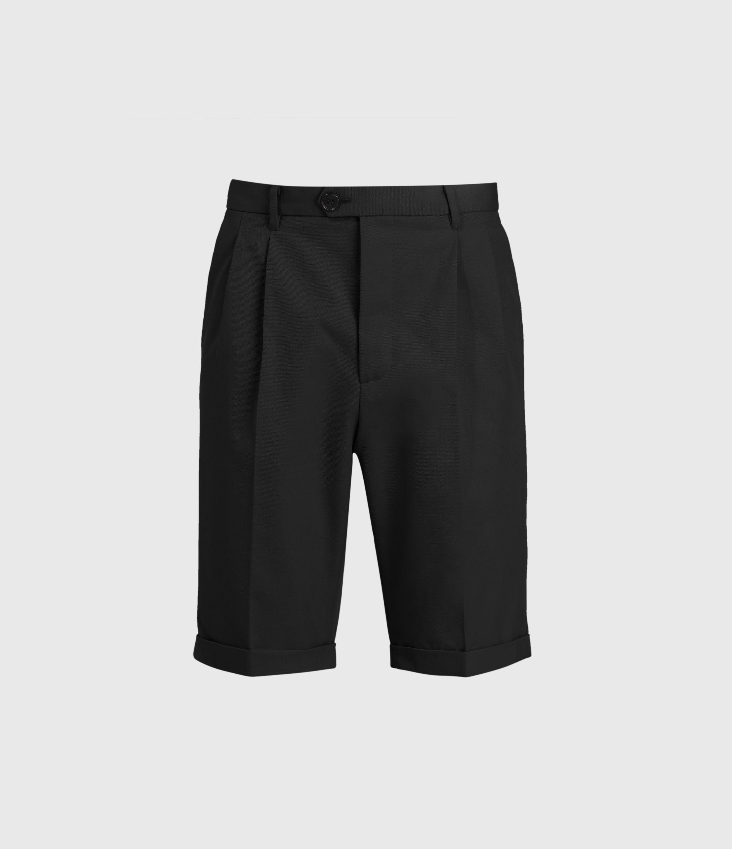 AllSaints Men's Cotton Traditional Tallis Shorts, Black, Size: 36