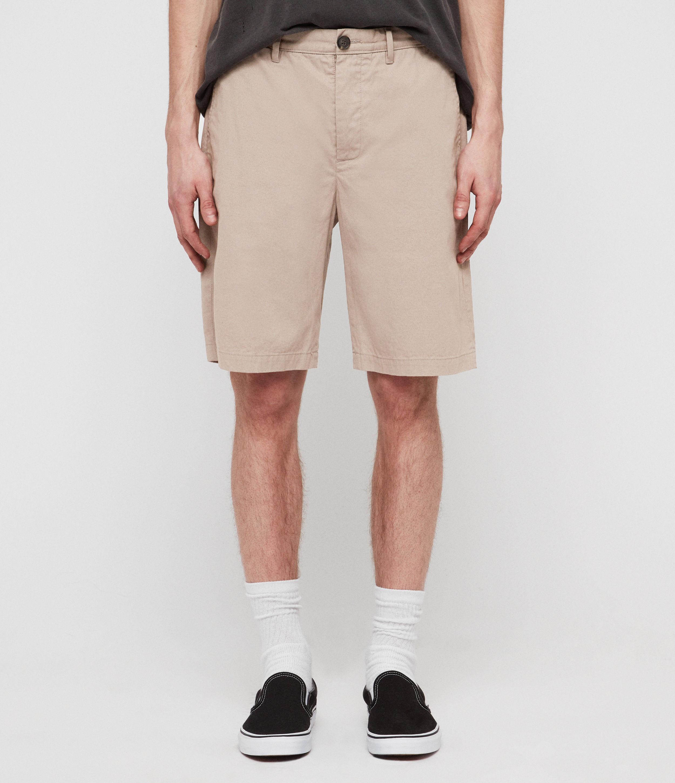 AllSaints Mens Colbalt Chino Shorts, Beige, Size: 30