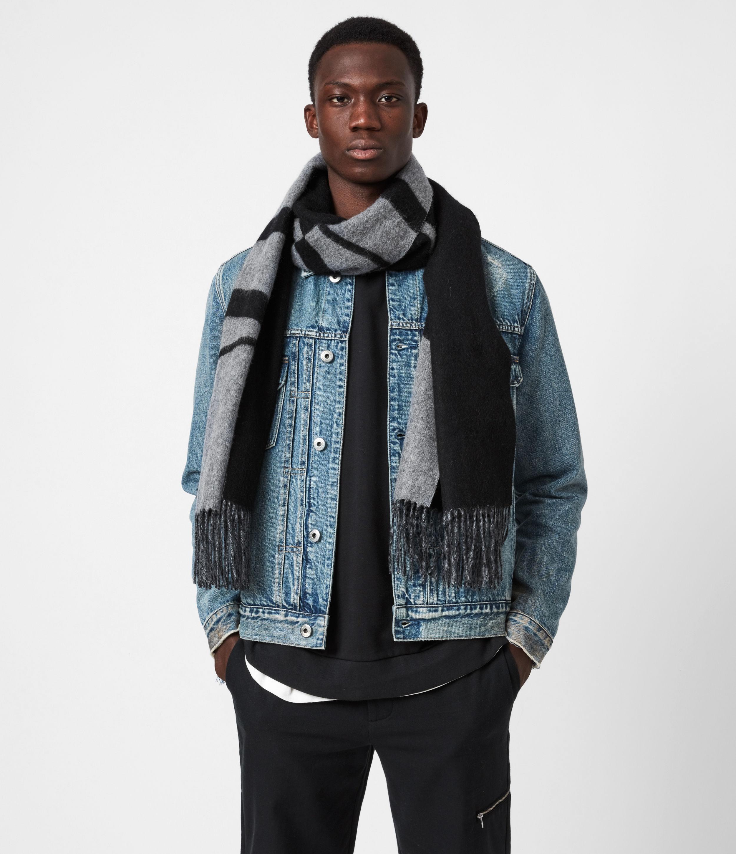 AllSaints Men's Wool Alon Reversible Scarf