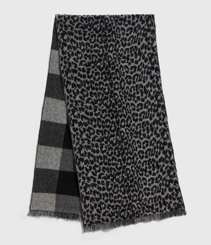 AllSaints Reversible Prowl Wool Blend Woven Scarf